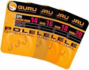 GURU F1 Eyed  and GURU Pole Special hooks. Free Postage