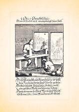 Der Drechsler Handwerker Drehbank Holz Kupferstich Christoph Weigel Berufe 038