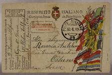 POSTA MILITARE 29 FRANCHIGIA 3° PLOTONE TELEFERISTI 30.6.1919 #XP359Q