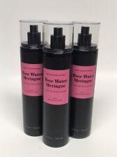 x3 Bath & Body Works Rose Water Meringue Fine Fragrance Mist