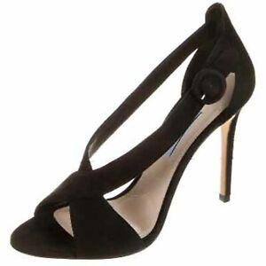 PRADA Suede Slingback Pump Sandals Size 38.5 EU US 8.5 1X473G $890 Black