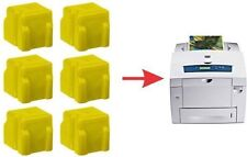 6x NON-OEM 8560 8560DN DX 8560MFP YELLOW XEROX PHASER SOLID INK STICK 108R00725