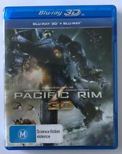 Pacific Rim (3D + Blu Ray, 3-Discs) VGC Rated M Movie 🍿 Rated M Action Idris