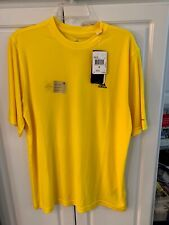Adidas Yellow Tech Tee Medium Quick Dry New with Tags