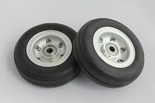 "2.5"" Aluminum Alloy Core Natural Rubber Wheels Tires for RC Model Airplane"