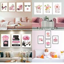 Fashion Poster Girls Room Art Print Modern Makeup Dress Up Canvas Painting