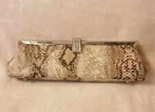 Beige Snake Print Clutch Bag *BNWT*
