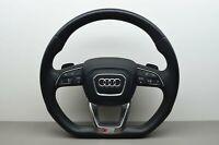 AUDI Q7 4M SLine Leather Multi Steering Wheel Flat Button Airbag OEM 4M0419091T