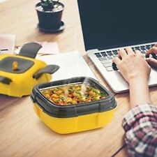 Leak Proof Vacuum Lunch Box Jar Food Container Hot Cold Thermos Insulated YELLOW