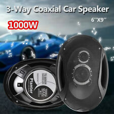2X 12V 1000 Watt Car Coaxial Speakers 6 X 9 3 Way Audio Marine Stereo Subwoofer