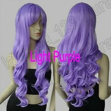 32in. Long Heat Resistant Big Spiral Curl Light Purple Cosplay Wig Free Shipping