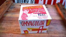 Antiquité Scolaire Boîte 100 Bâtons Craies à écrire OMYACOLOR Ecole Vintage 1960