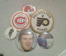 6 vintage NHL pin badge