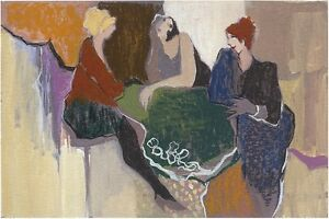 """Itzchak Tarkay""""The Chic"""" Ladies Chat From the Memories Suite H S/# Serigraph"""