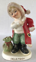 Vintage Lefton Japan Christmas Figurine December Boy #2300 Christmas Figure