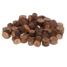 50x Natural Wood Round Log Slices Wooden Shape for Wood Crafts Woodworking