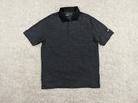 NIKE Golf Tour Performance Polo Shirt Mens Large Black White Swoosh Dri-Fit