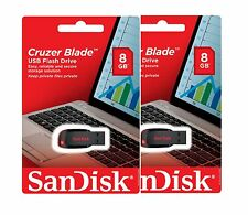 SanDisk Cruzer Blade 8GB USB 2.0 Flash Memory Pen Drive Stick Micro SDCZ50 Pack2