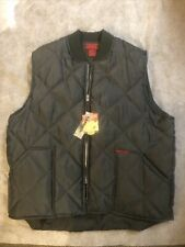 Moosecreek Legendary Clothing Green Quilted Full Zip Front Vest Men's XL