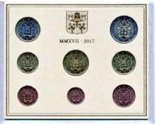 Vatikaan  2017  BU-Coffret met de 8 munten-avec les 8 pièces Zeldzaam - RARE !!