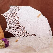 Paraguas nupcial del banquete de boda del parasol del cordón de las