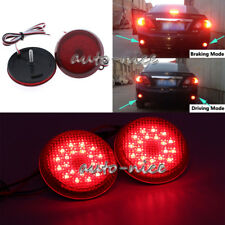 2x Bumper Reflector Red LED Tail Brake Stop Light For Toyota Corolla Scion xB iQ