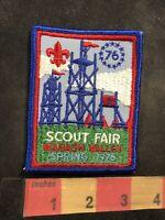 Vtg 1976 SCOUT FAIR WABASH VALLEY Bicentennial Boy Scouts Patch 92NL