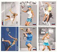 """6"" ANNA KOURNIKOVA 2003 ""1ST EVER PRINTED"" NETPRO ELITE ROOKIE CARD LOT!"