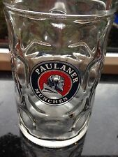 Paulaner Munchen Dimpled Oktoberfest 1L Heavy Beer Glass