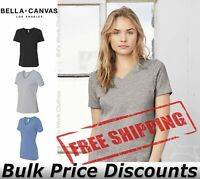 Bella + Canvas Women's Relaxed Short Sleeve Jersey V-Neck T Top 6405 up to