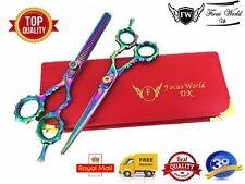 "FW Professional Hairdressing Barber Hair Cutting Thinning Scissors Set 6""Japanee"