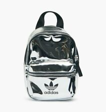 ADIDAS MINI silver  Vinyl  BAG  SMALL size BACKPACK  brand new
