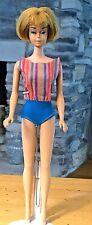 Vintage American Girl Dark Blonde Barbie in Original Swimsuit #1070