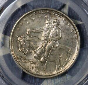 1925 STONE MOUNTAIN COMMEMORATIVE SILVER HALF DOLLAR PCGS MS63 COLLECTOR COIN