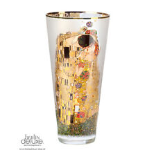 KLIMT Der Kuss NEU/OVP 30cm Glas-Vase Rauchglas Artis Orbis AO GOEBEL Kunst Deko