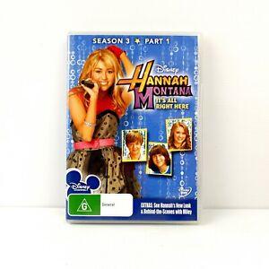 Hannah Montana Season 3 Part 1 - DVD - FREE POST
