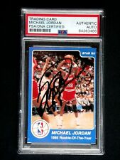 MICHAEL JORDAN SIGNED 1984-85 STAR ROOKIE CARD #288 PSA/DNA AUTOGRAPH AUTO RARE!