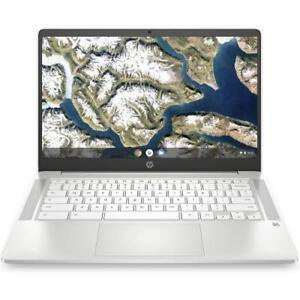 HP 14 14 Chromebook Intel Celeron N4000 4GB RAM 32GB eMMC Ceramic White
