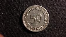 Münze Coin 50 Pfennig 1949 J Bank Deutscher Länder Fehlprägung error coin