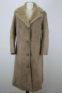 "MORLANDS Beige Shearling Sheepskin Coat Chest size 36"""