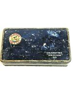 Vintage Players Navy Cut Tobacco 50 Cigarettes Medium Litho Tin Box GUC