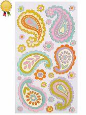 PASTEL PAISLEY FLOWERS Stickers Hearts Leaves Sticko Stickopotamus