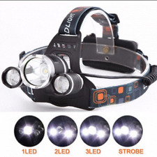 12000lm T6 3x CREE LED Headlamp Head Light Torch Lamp Rechargeable Flashlight UK