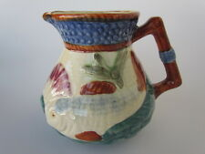 Shorter And Son English Majolica Creamer With Fish Absolutely Beautiful