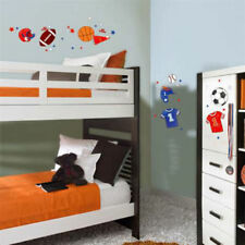Sports 47 Wall Stickers BASKETBALL FOOTBALL SOCCER Room Decor Removable Decals