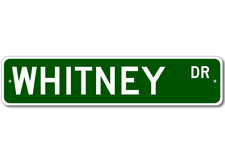 WHITNEY Street Sign - Personalized Last Name Sign