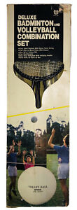 Skyline Deluxe Badminton Volleyball Combination Set Vintage In Box New Open Box