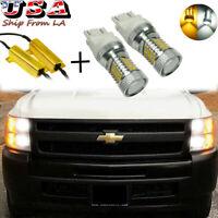 2x Error Free LED DRL Turn Signal Light For Chevy Silverado 1500 2500 3500 05-14