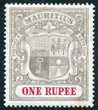 MAURITIUS-1907 1r Grey-Black & Carmine Sg 175 MOUNTED MINT  V24703