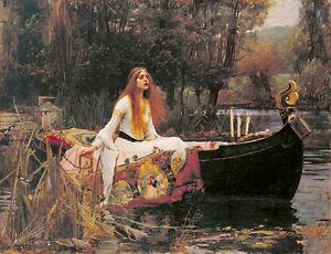 The Lady of Shalott  John William Waterhouse A2 High Quality Canvas Print